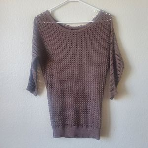 Express Brown Knit Top